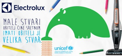 Electrolux promocije, UNICEF, 5 godina garancije, probni rok 60 dana