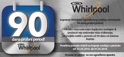 Whirlpool 90 dana probnog perioda rada uređaja