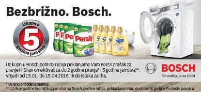 Akcija Bosch – 5 godina garancije, Persil, Silan, ručnik, košara …