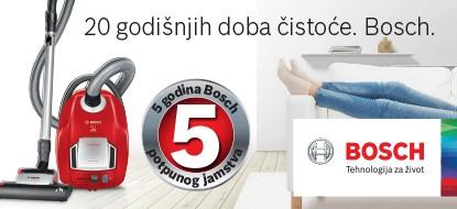 Bosch 5 godina jamstva na usisavače