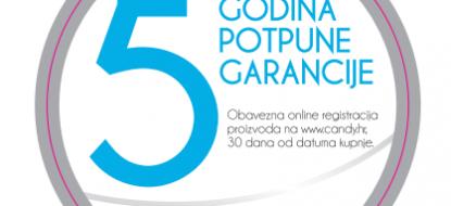 Promocija Candy 5 godina garancije