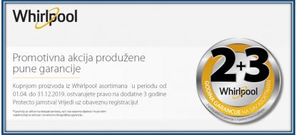 Whirlpool promocija 2+3 godine jamstva