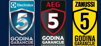 Electrolux promocija 5 godina garancije