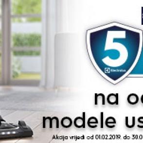 Electrolux promocija 5 godina garancije na određene usisavače